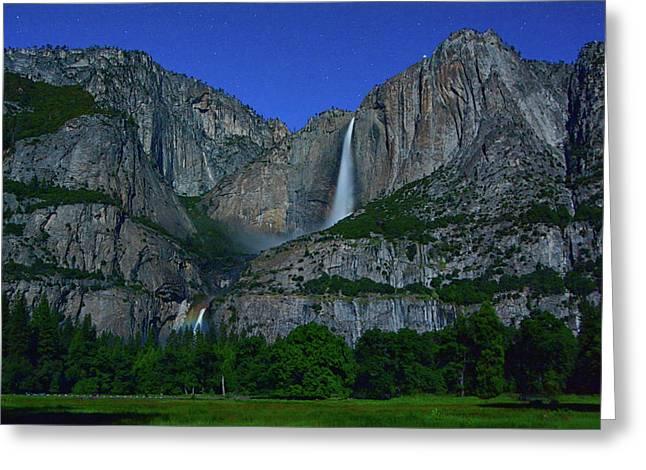 Moonbow Yosemite Falls Greeting Card