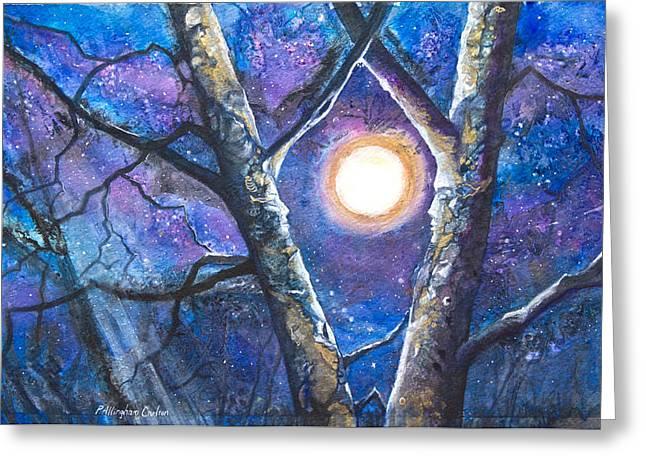 Moondance II Greeting Card by Patricia Allingham Carlson
