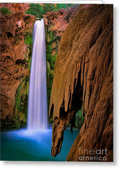 Mooney Falls Greeting Card by Inge Johnsson