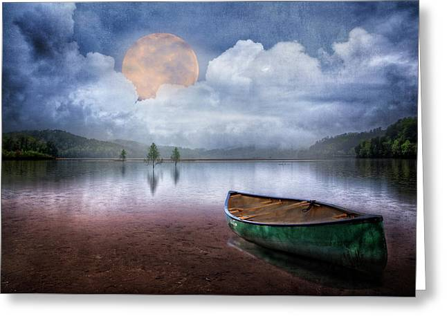 Moonglow On The Lake Greeting Card