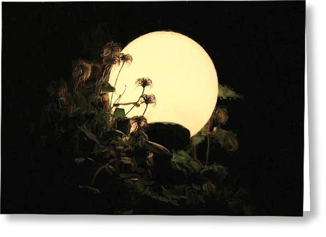 Moonglow Thistles Greeting Card