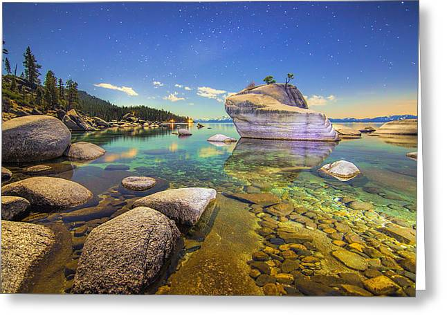 Moonlight Dip Greeting Card by Steve Baranek