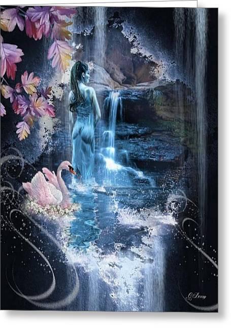 Moonlight Falls Greeting Card