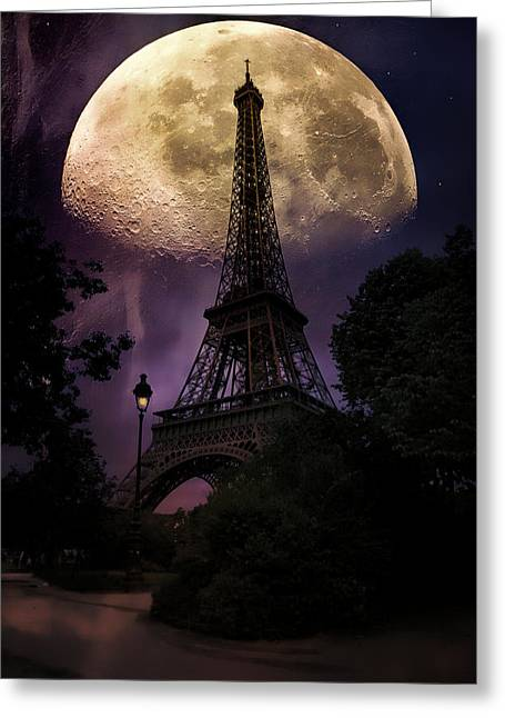 Moonlight In Paris Greeting Card