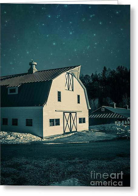 Greeting Card featuring the photograph Moonlight In Vermont by Edward Fielding