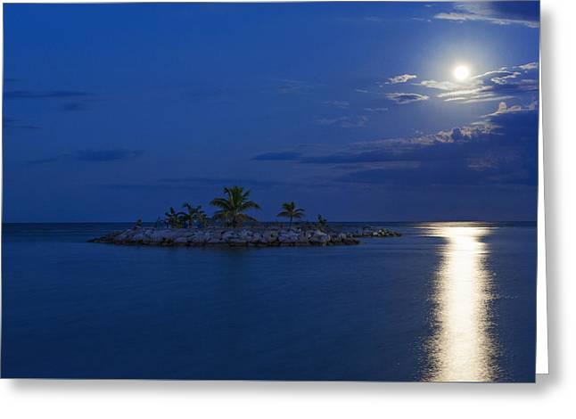 Moonlight Island Greeting Card