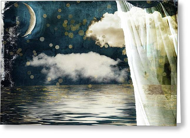Moonlight Lullabye Greeting Card by Mindy Sommers