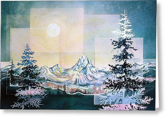 Moonlight Mountain Greeting Card