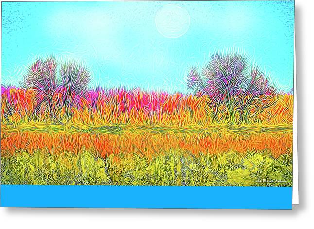 Greeting Card featuring the digital art Moonlight On Golden Fields - Boulder County Colorado by Joel Bruce Wallach