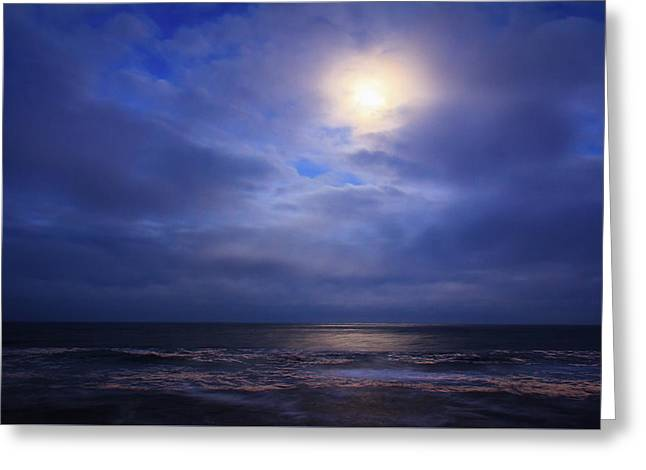 Moonlight On The Ocean At Hatteras Greeting Card