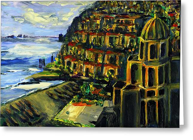 Moonlight Over Positano Greeting Card