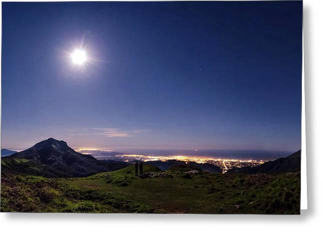 Moonlight Panorama Greeting Card