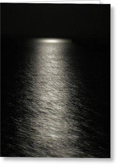 Moonlight Reflection Greeting Card