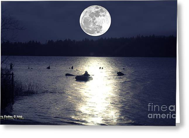 Moonlight Row Greeting Card