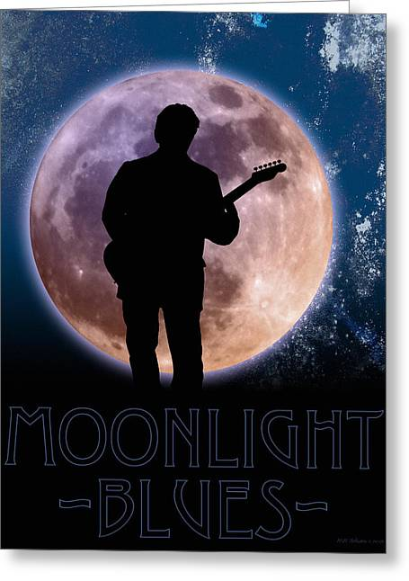 Moonlight Serenade Greeting Card by WB Johnston