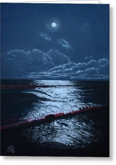 Moonlight Greeting Card by Serge R