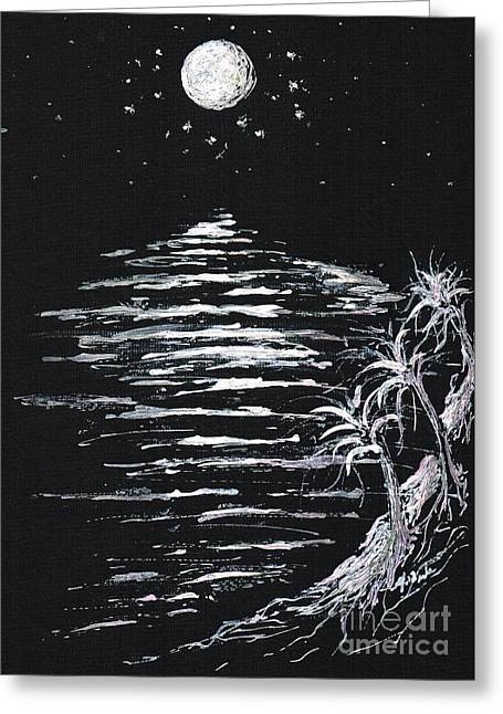 Moonlight Shadow Greeting Card by Teresa White