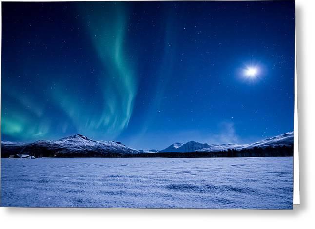 Moonlight Sonata Greeting Card by Tor-Ivar Naess