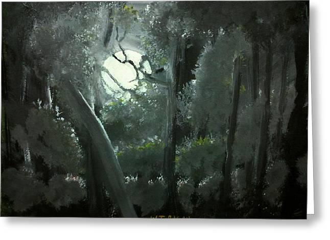 Moonlight Greeting Card by Travis  Ragan