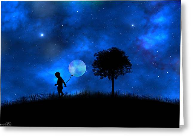Moonlight Shadow Greeting Card