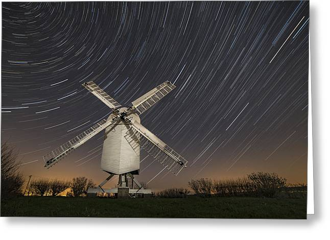 Moonlit Chillenden Windmill Greeting Card