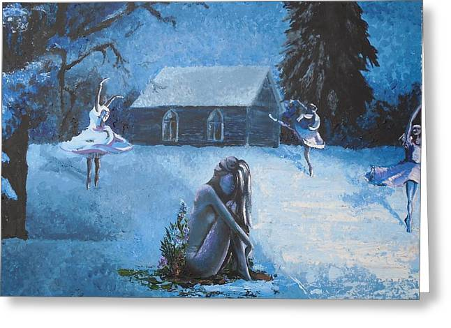 Moonlit Dream Greeting Card by Julia Ranson