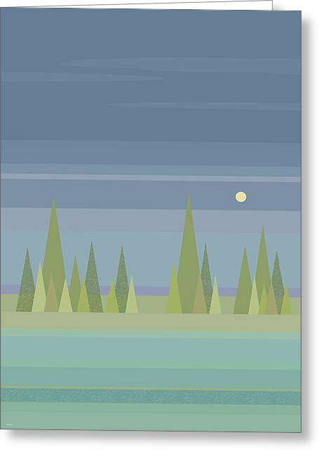 Moonlit Dreams Greeting Card by Val Arie