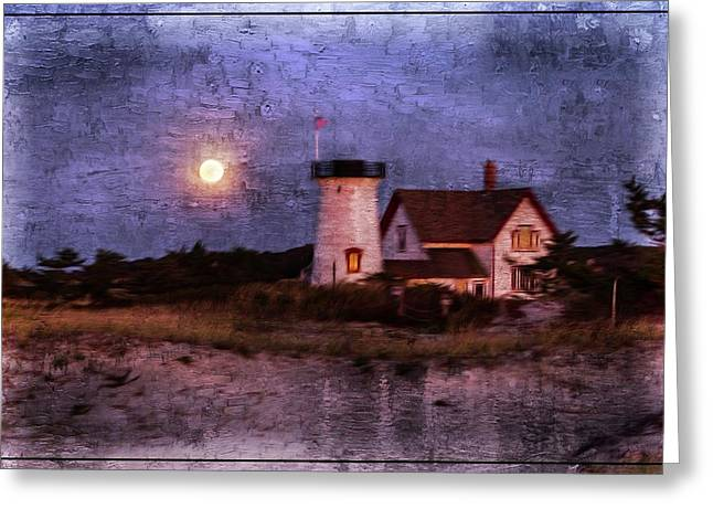 Moonlit Harbor Greeting Card by Patrice Zinck