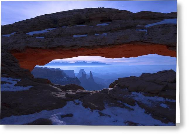 Greeting Card featuring the photograph Moonlit Mesa by Chad Dutson