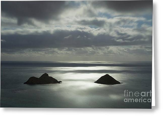 Moonlit Mokulua Islands Greeting Card