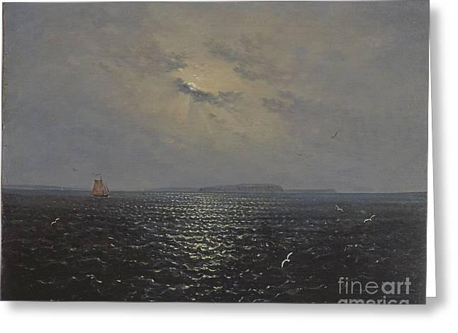Moonlit Night By Ruegen Greeting Card