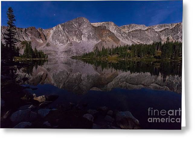 Moonlit Reflections  Greeting Card by Steven Reed