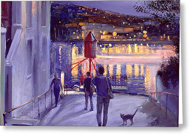 Moonlit Start Greeting Card by Timothy Easton