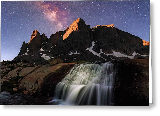 Moonrise At Cirque Of The Towers. Greeting Card