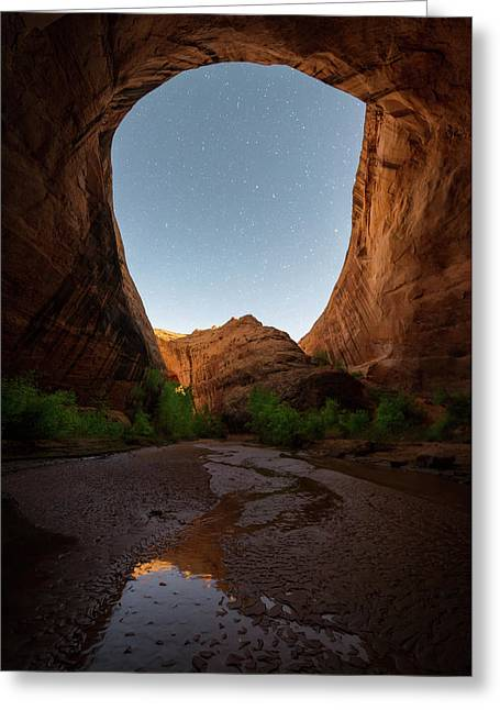 Greeting Card featuring the photograph Moonrise At Coyote Gulch by Dustin LeFevre