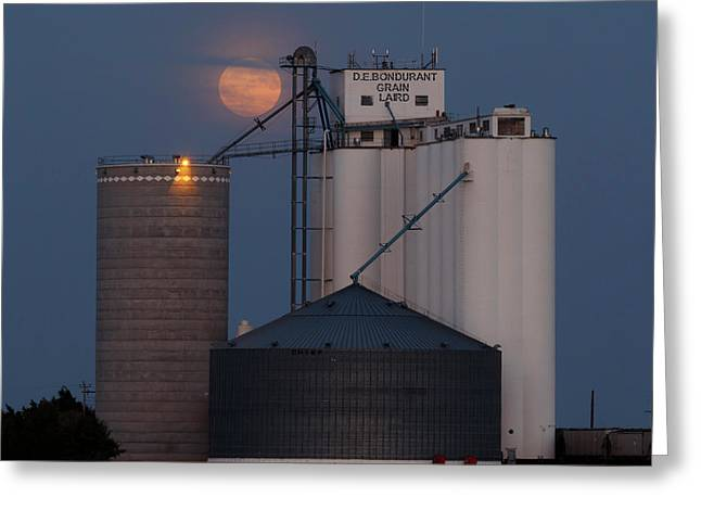Greeting Card featuring the photograph Moonrise At Laird -01 by Rob Graham