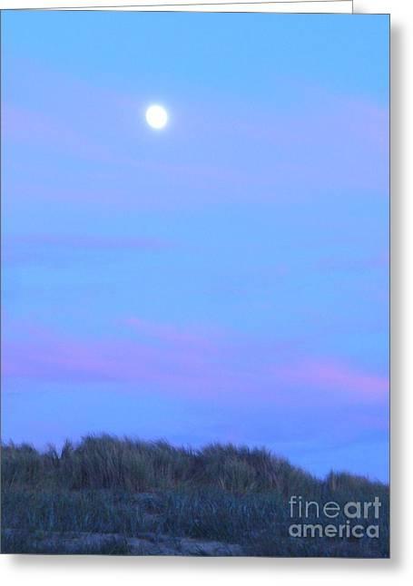 Moonrise At Ocean Beach 3 Greeting Card
