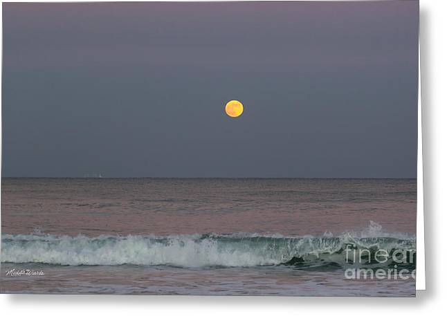Greeting Card featuring the photograph Moonrise At Sunset by Michelle Wiarda