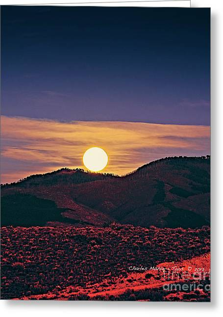 Moonrise In Northern New Mexico  Greeting Card