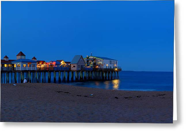 Moonrise Greeting Cards - Moonrise in Old Orchard Beach Greeting Card by David Bishop