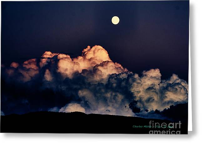 Moonrise In Taos Greeting Card