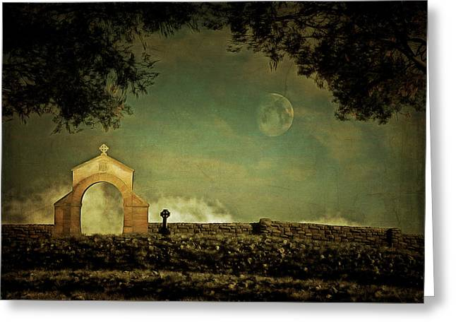 Greeting Card featuring the painting Moonrise by Jan Keteleer