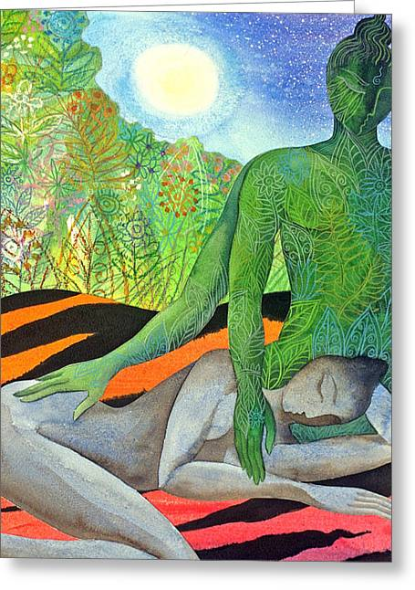 Moonrise Greeting Card by Jennifer Baird