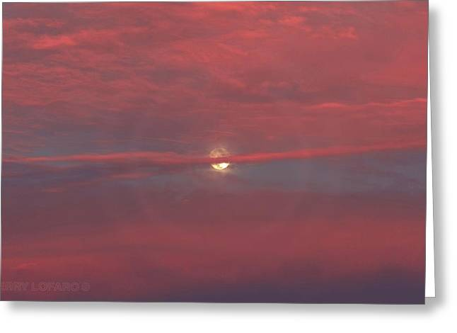 Moonrise Greeting Card by Jerry LoFaro
