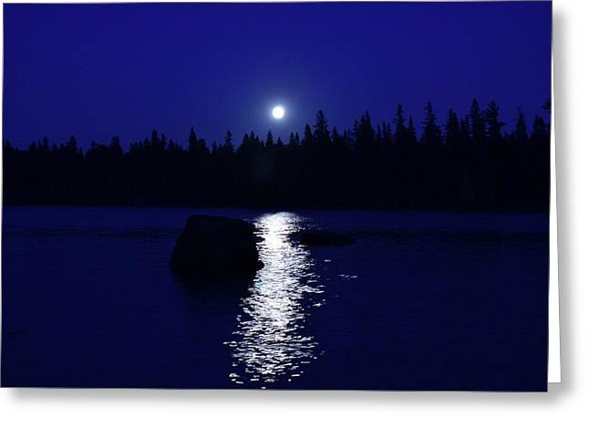 Moonrise On A Midsummer's Night Greeting Card