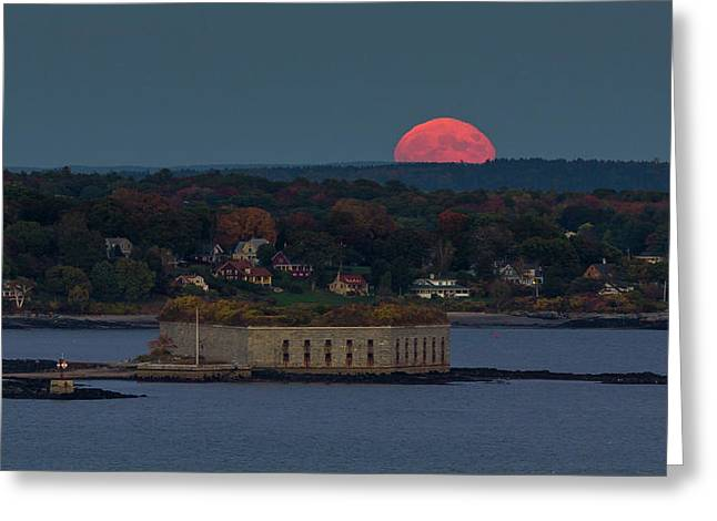 Moonrise Over Ft. Gorges Greeting Card