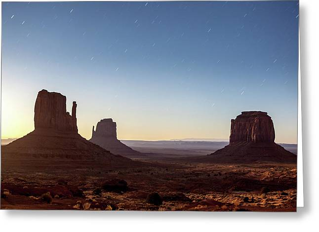 Moonrise Over Monument Valley Greeting Card