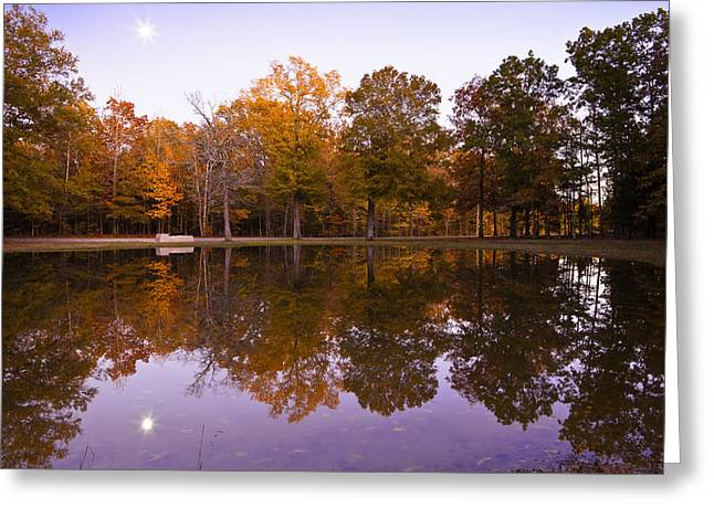Moonrise Over Shiloh Greeting Card