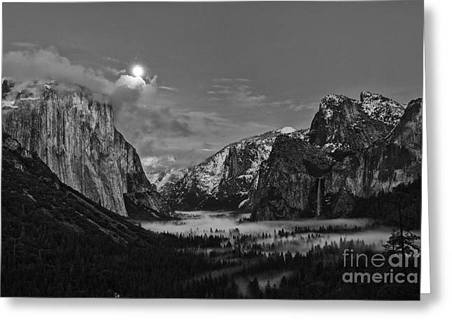 Moonrise Over Yosemite Greeting Card