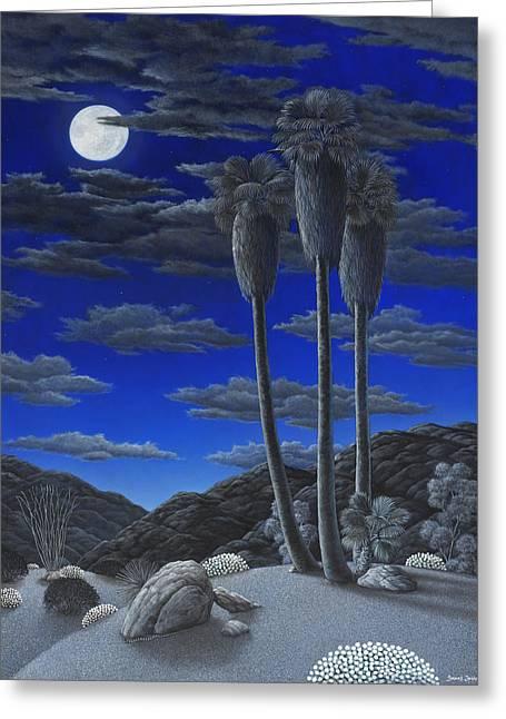 Moonrise Greeting Card by Snake Jagger